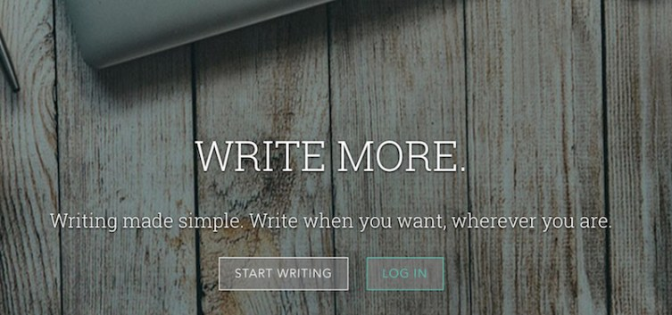 Writing made simple. Write when you want, wherever you are