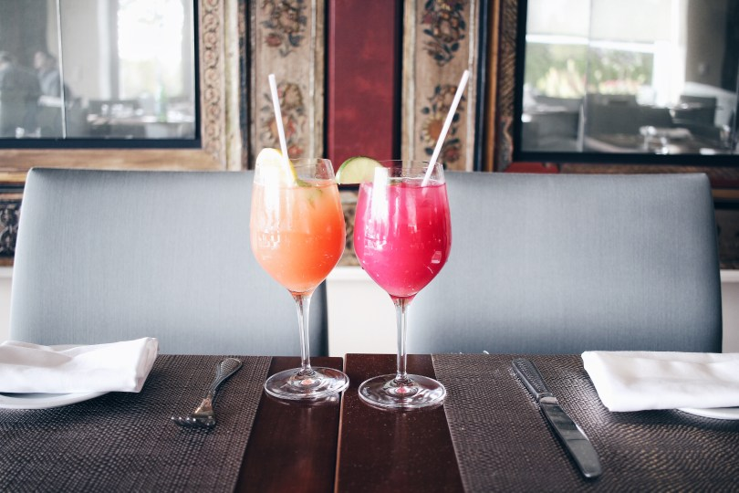 Watermelon lemonade (left) and cactus lychee pear (right)