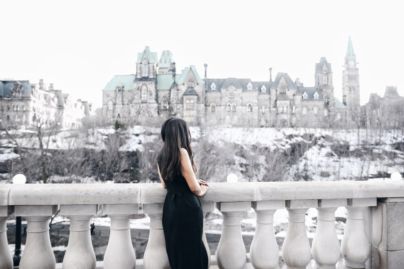 Overlooking Parliament Hill from the Fairmont Chateau Laurier