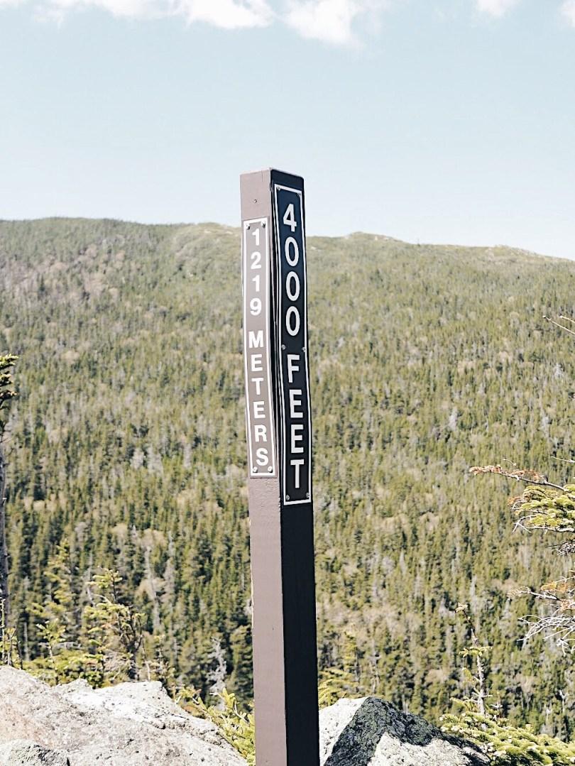 4,000 above sea level at Mount Washington