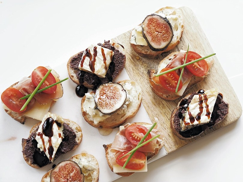 Trio of crostini for Canada150