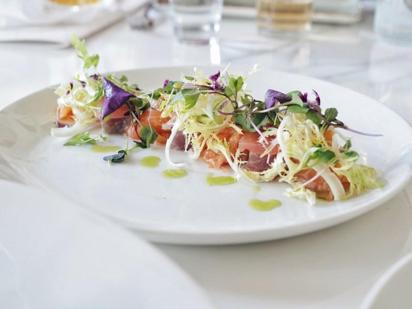 Tuna and salmon crudo at Ricarda's Toronto