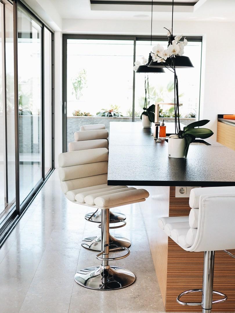 Large and modern kitchen at Villa Seven St. Barth