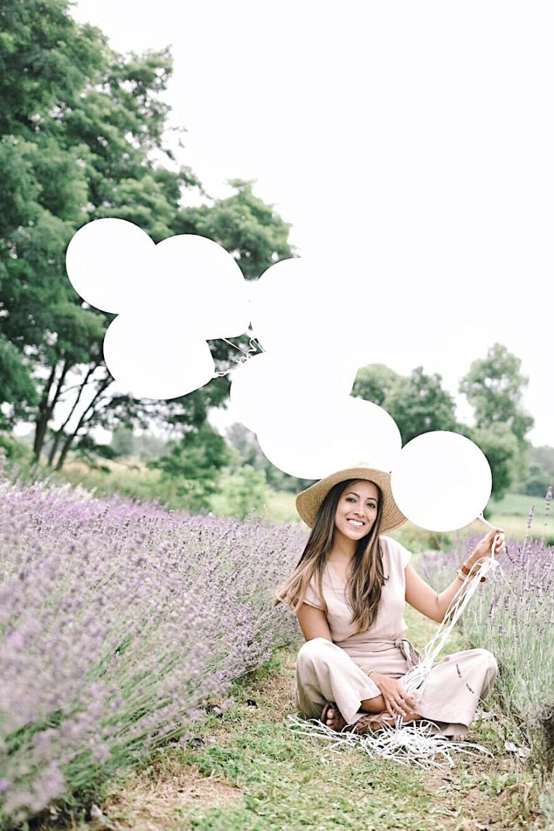 Felt so whimsical with these balloons in the lavender fields