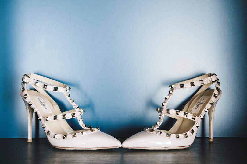 Valentino rock studs as my wedding shoes