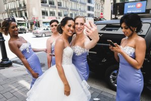 photo of me with one of my bridesmaids taking selfie
