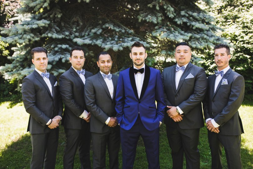 My husband and his groomsmen on our wedding day