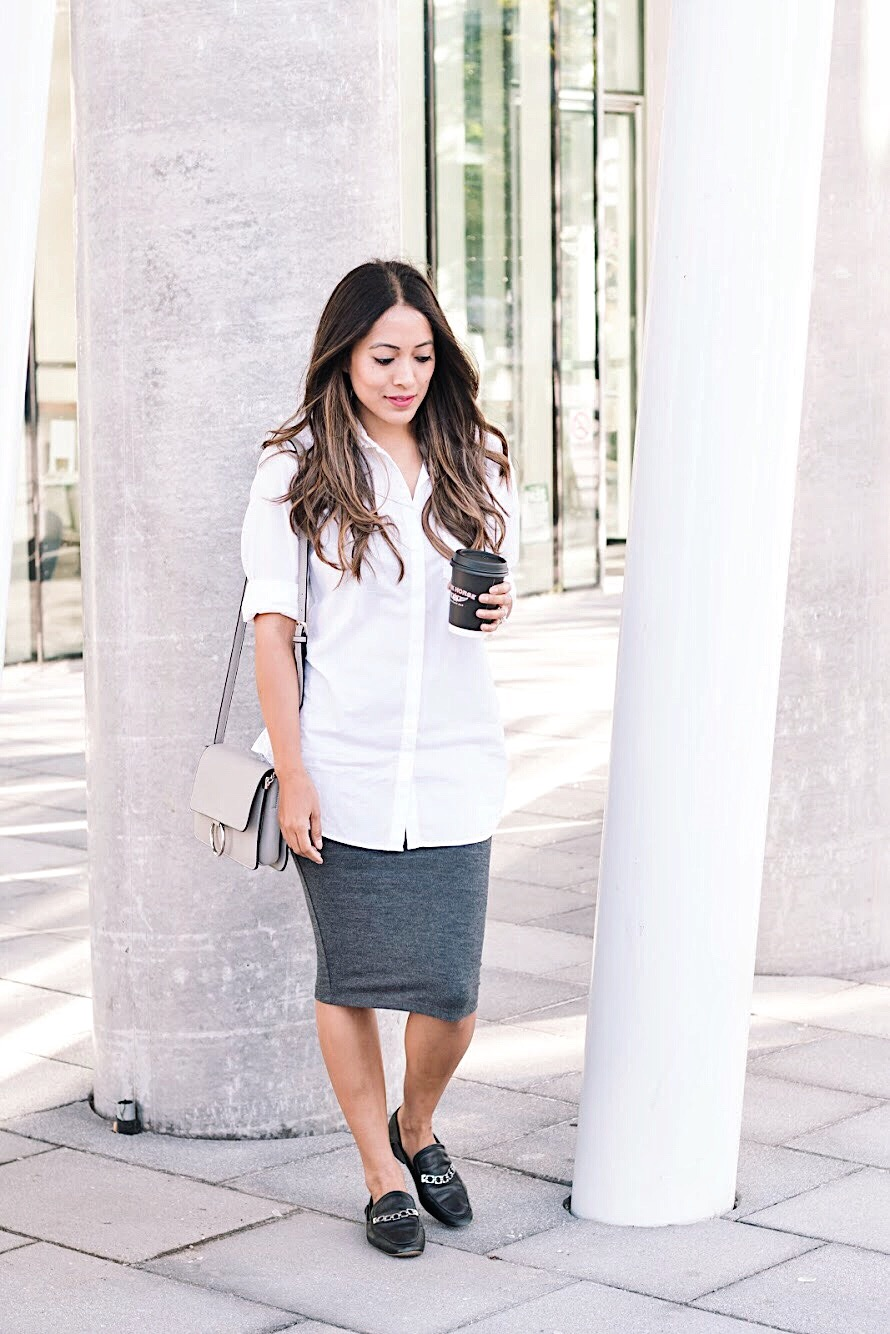 Styling a pencil skirt in different ways
