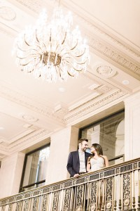 With my husband in the Grand Staircase at One King West