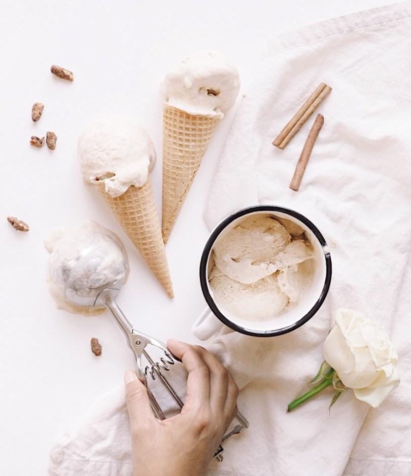 Reaching for ice cream scoop