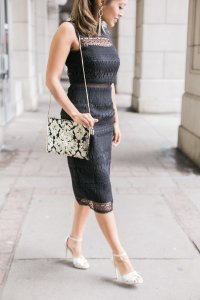 Shimmery nude heels