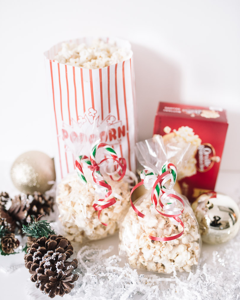 Orville popcorn packaged up as holiday gifts