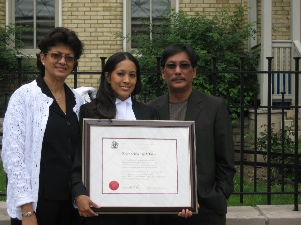With my parents on my Call to the Bar