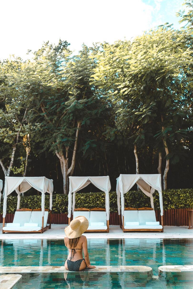 Sitting at Zen pool