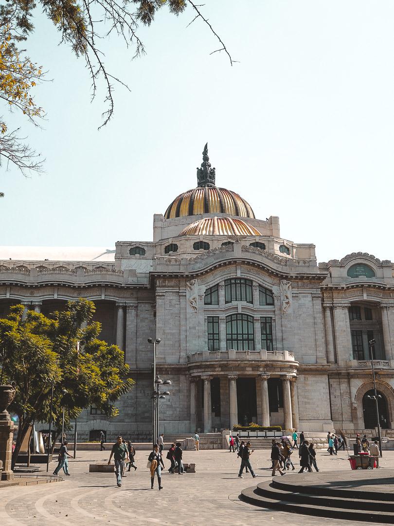 Outside of Palacio de Bellas Artes