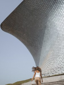 Outside Museo Soumaya