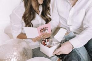 Reading Valentine's Day card