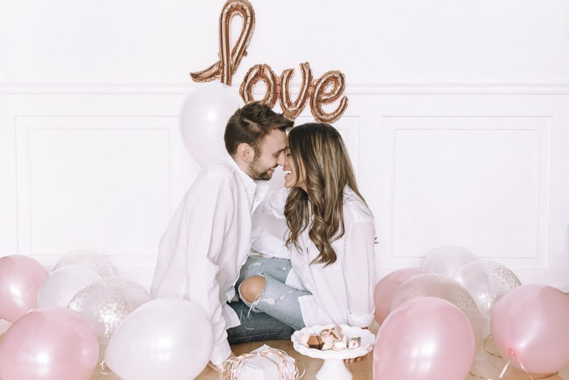 Valentine's Day with balloons