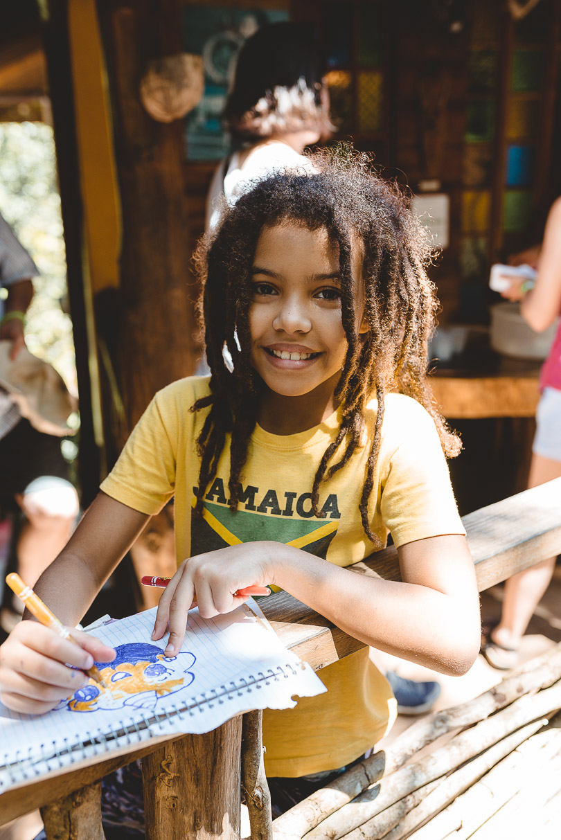 Child colouring at Zimbali Retreat