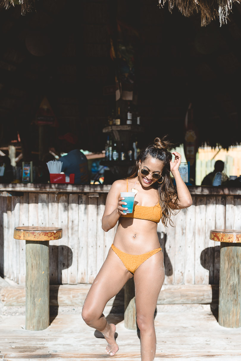 With drink in hand at Margaritaville in Negril