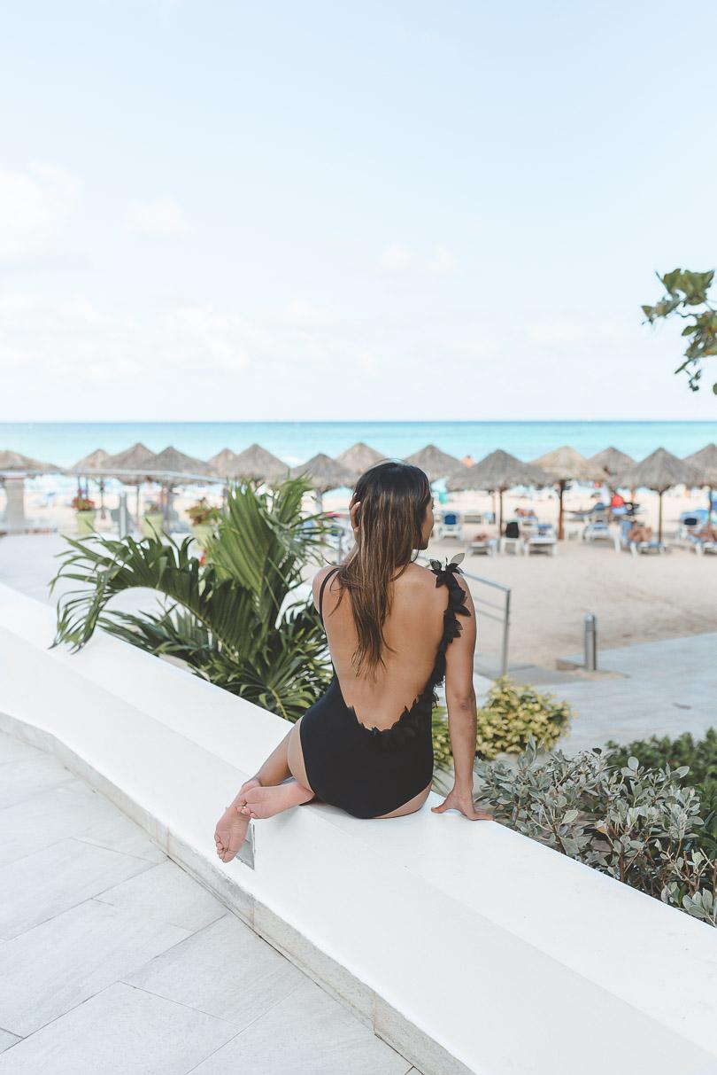 Sitting admiring the view at Royal Decameron Cornwall Beach
