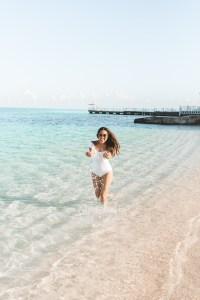 Splashing in the water in Montego Bay, Jamaica