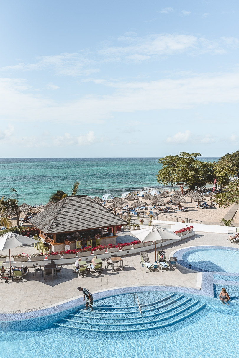View of the pool and beach from Royal Decameron Cornwall Beach