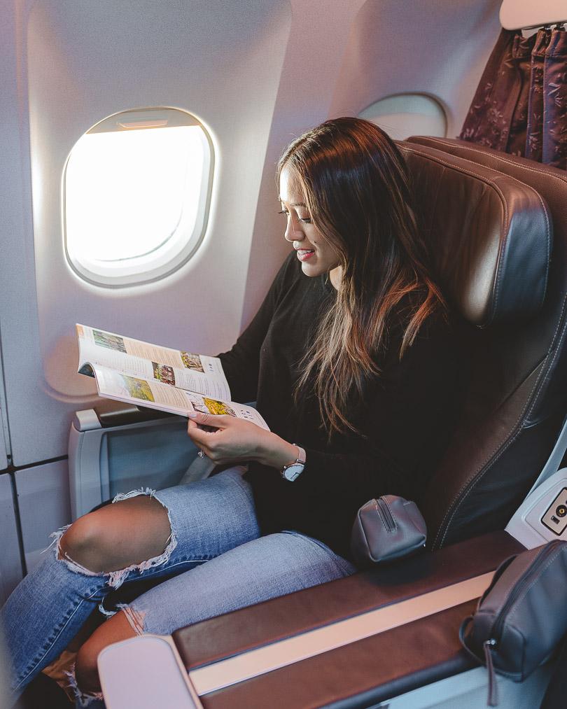 Sitting in Club Class aboard an Air Transat flight back from Dublin to Toronto