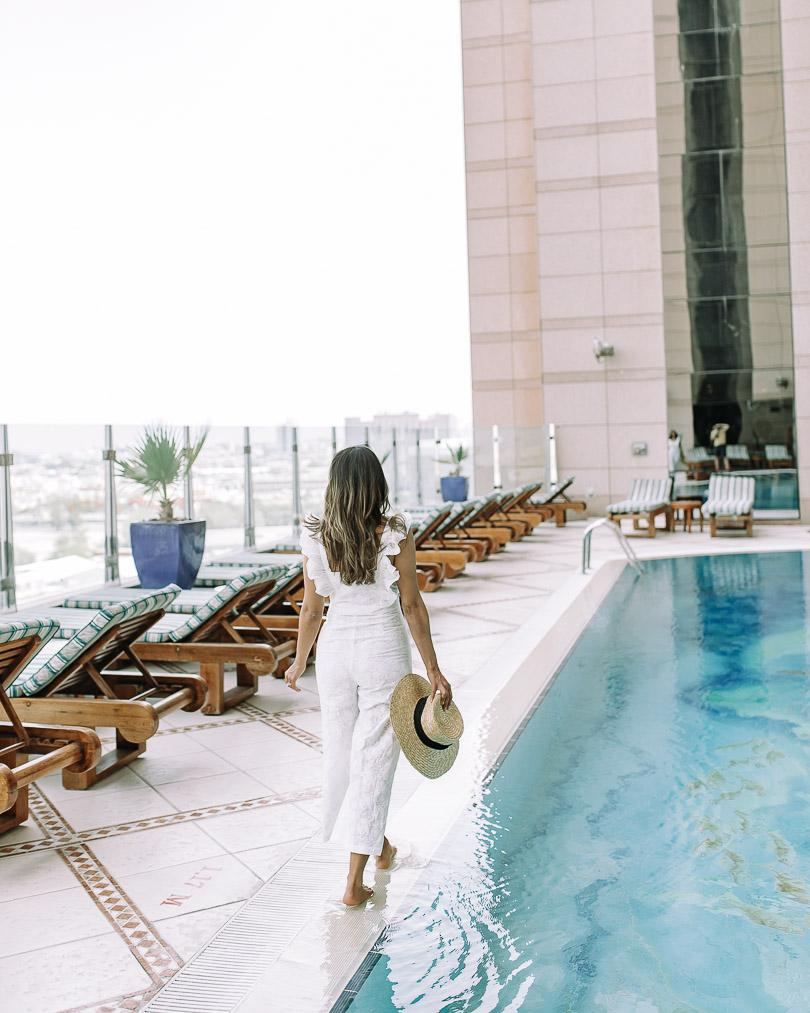 Sunrise and sunset pool at Fairmont Dubai