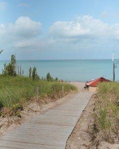 Private beach access at Oakwood Resort