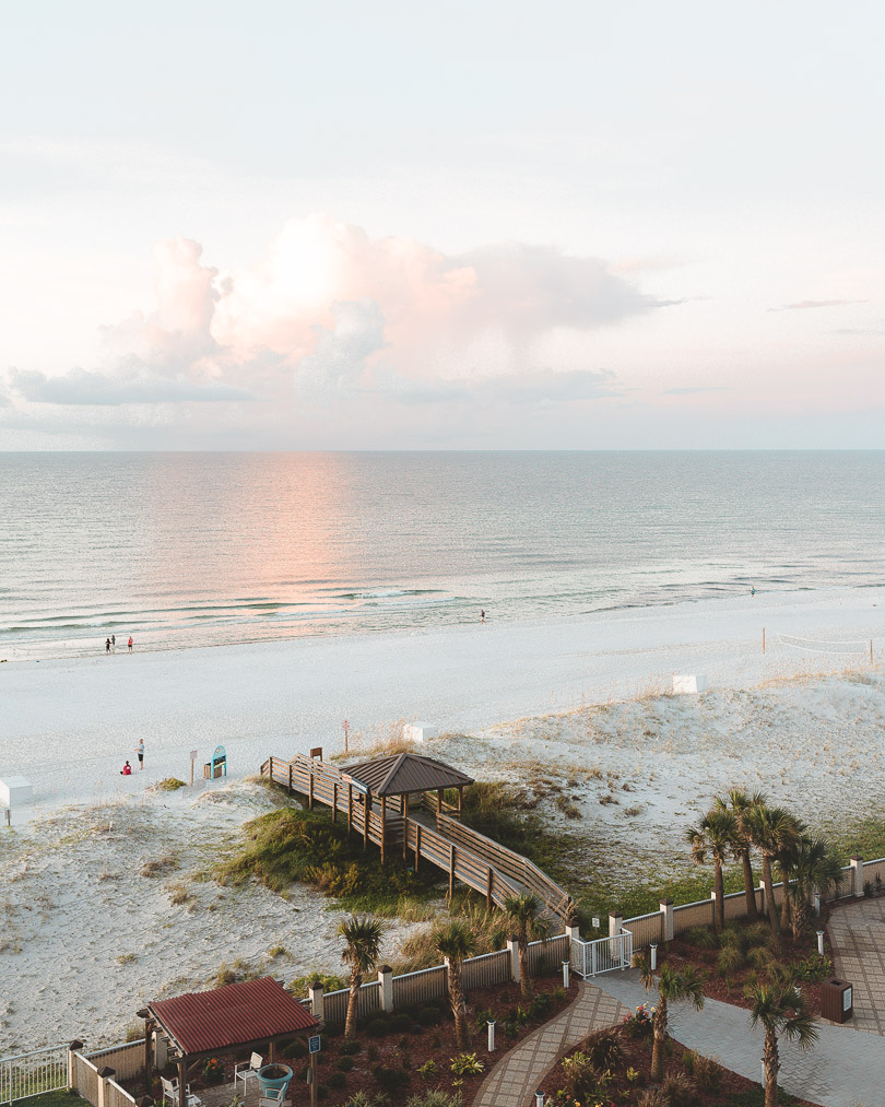 Cotton candy skies - view from Hilton Pensacola Beach