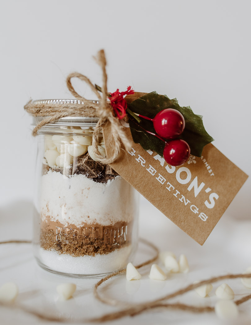 Double Chocolate Chip Cookies in a Jar