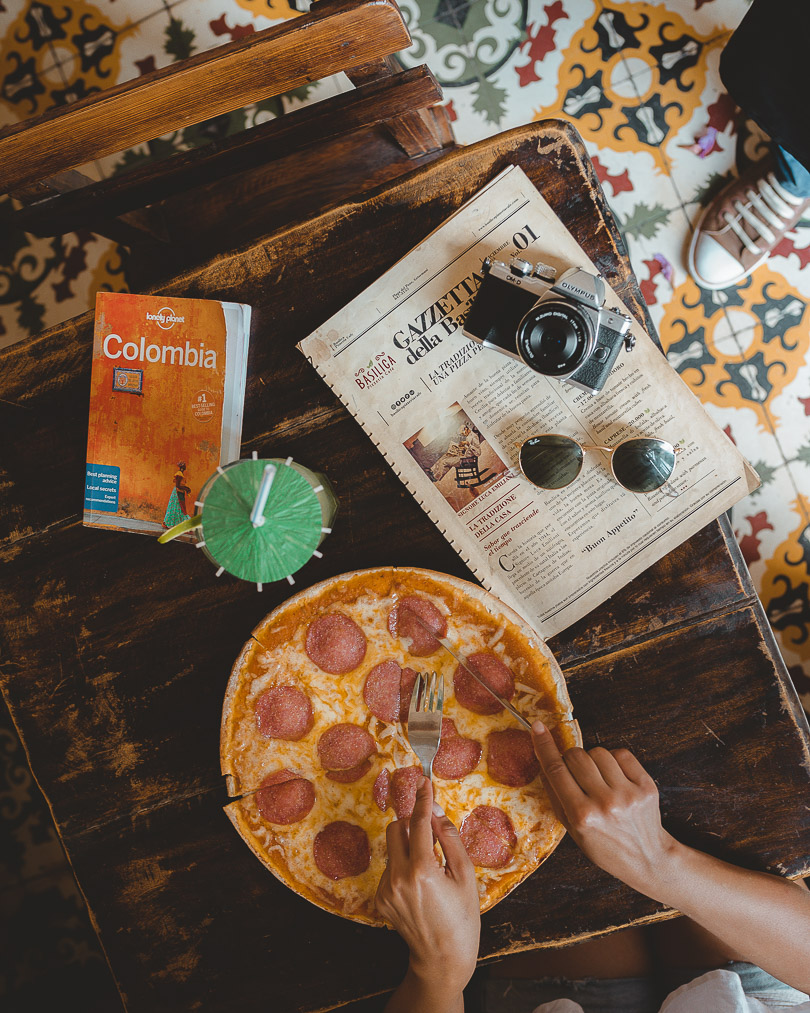 Pizza from Basilica Pizzeria & Cafe in Getsemani