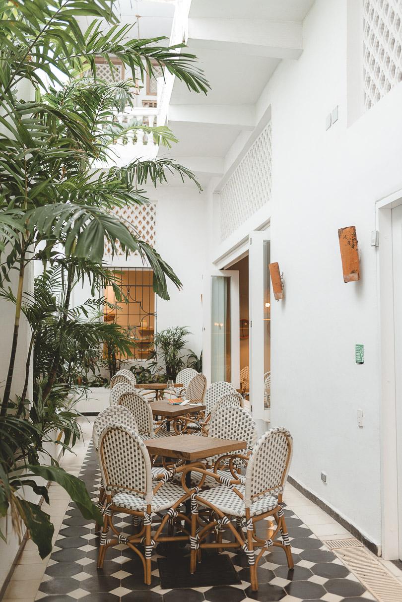 Cafe Artesano inside of El Centro Artesano in Cartagena