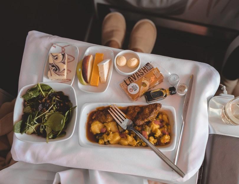 Chef Daniel Vezina menu Air Transat