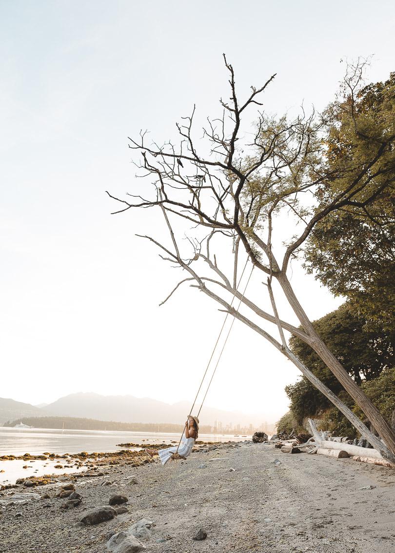 Kitsilano Beach swing