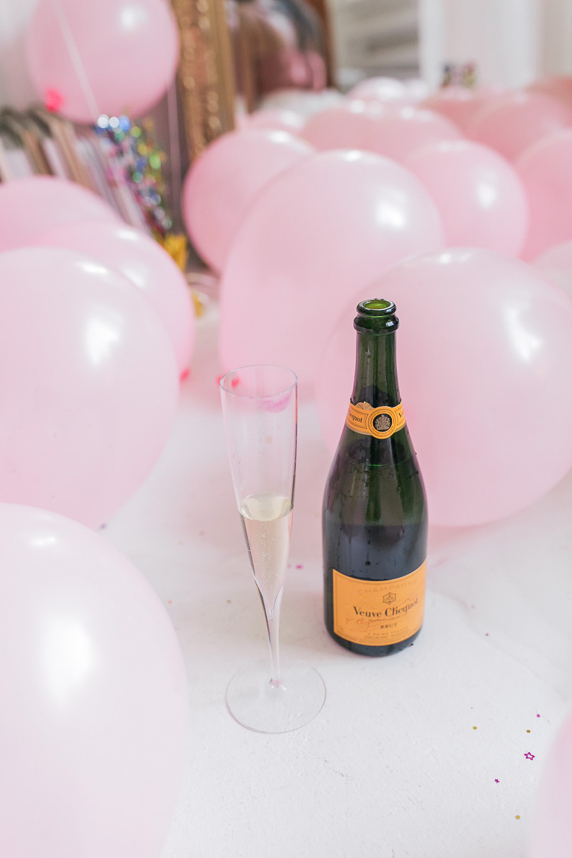 champagne and balloons