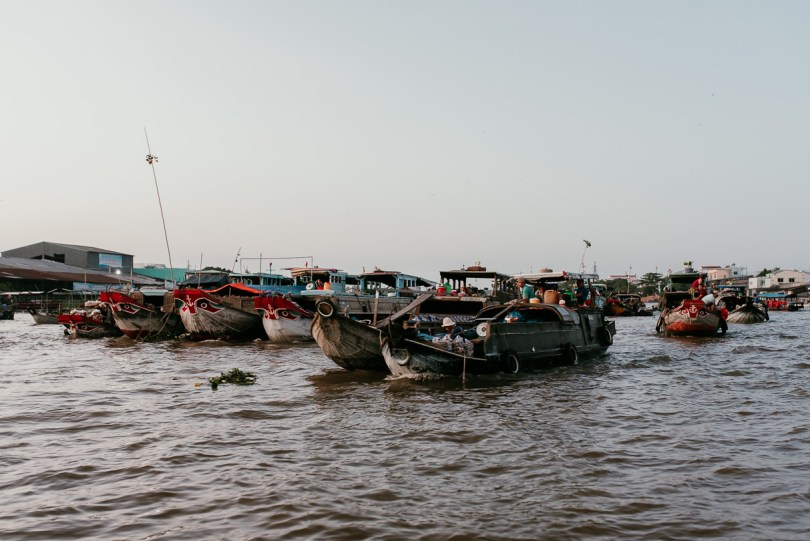 Cai Rang Floating Market in the Mekong Delta