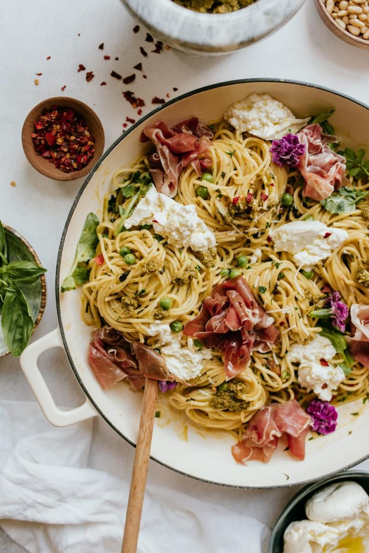 Summer pasta with Prosciutto di Parma