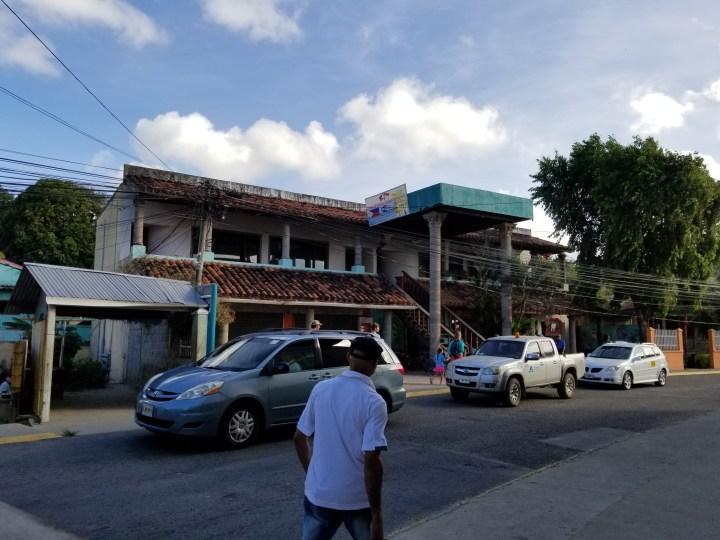 Where we waited for Rony's Tours in Roatan, Honduras.