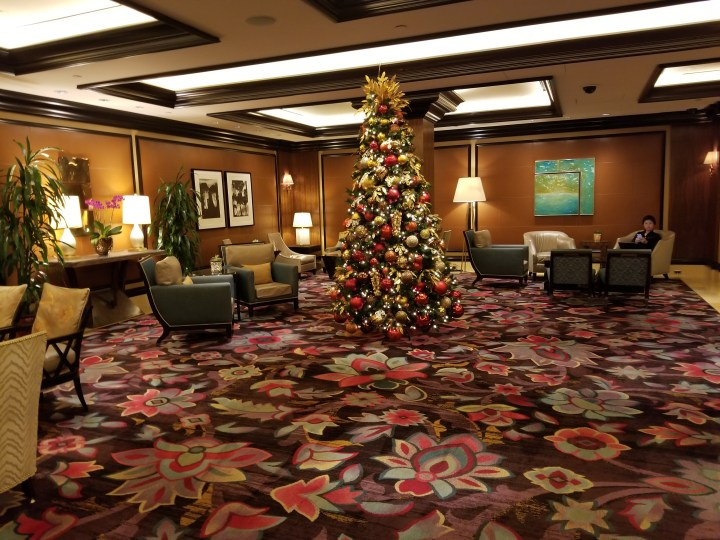 Seating area in the Bellagio Chairman's Lounge.