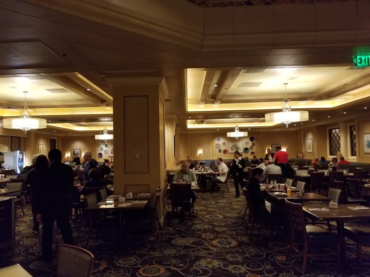 One of several dining rooms at the Bellagio buffet.