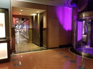 Another view of the entrance to Secret Pizza in the Cosmopolitan.