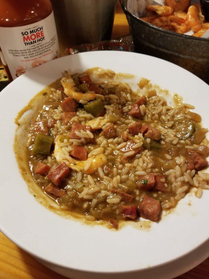 The Seafood Gumbo on offer at Joe's Crab Shack one Friday in Lent