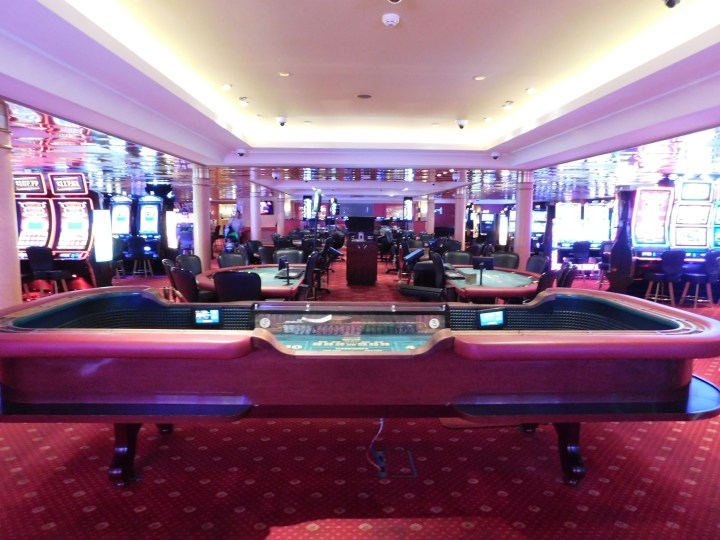 Norwegian Sky casino. The environment was great, but the table rules and electronic blackjack rules were awful.