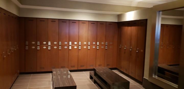 Treasure Island Oleksandra Spa men's locker area