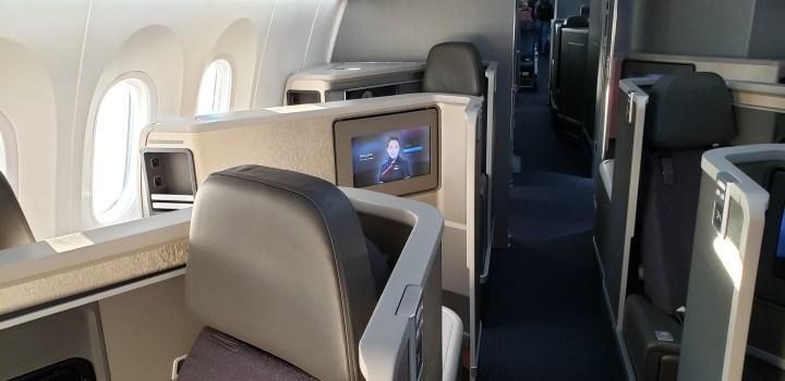 American Airlines Boeing 788 premium cabin
