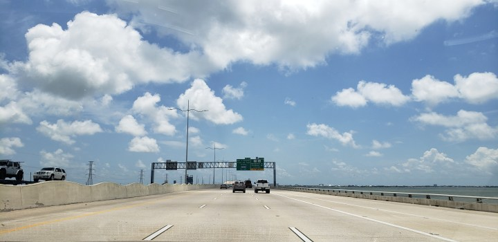 Your Galveston shuttle will have to take the bridge from the mainland to Galveston Island.