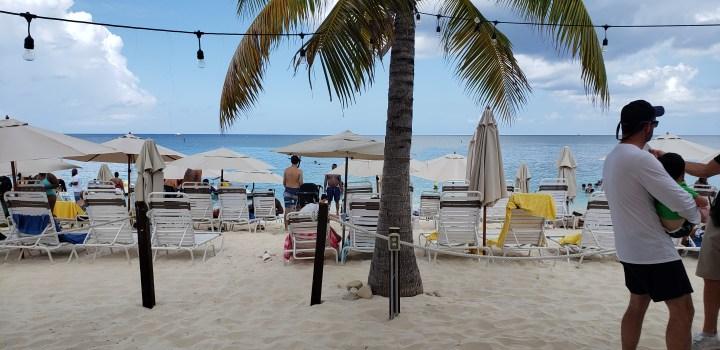 The beautiful beach at Royal Palms Beach Club in Grand Cayman.