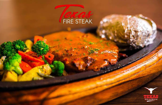 Ripe and succulent steak at Texas Steak House